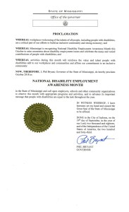 Mississippi proclamation NDEAM