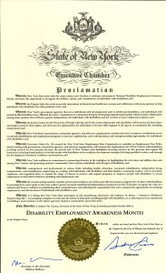 Image of New York state NDEAM proclamation