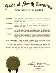 South Carolina proclamation NDEAM