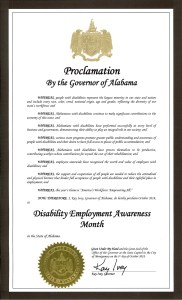 Image of Alabama Proclamation for NDEAM 2018