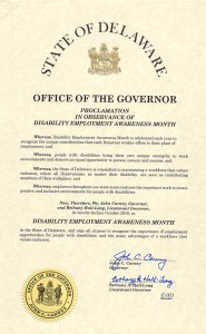 Delaware NDEAM proclamation