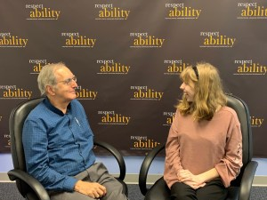 Bob Rudney and Emily Kranking talking