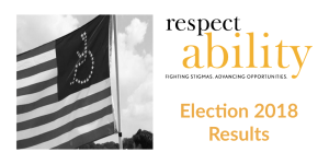 Election 2018 Results, image of American flag with disability symbol (wheelchair) instead of stars
