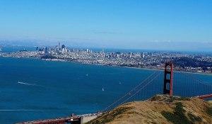 Image of San Francisco from behind a bridge