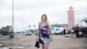 Vicky Knight walking outside on a street