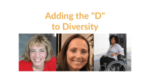 """Images of Jennifer Laszlo Mizrahi, Candace Cable and Tatiana Lee. Text: Adding the """"D"""" to Diversity"""