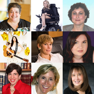 Headshots of all 9 speakers at Training for Jewish Women with Disabilities and Their Allies