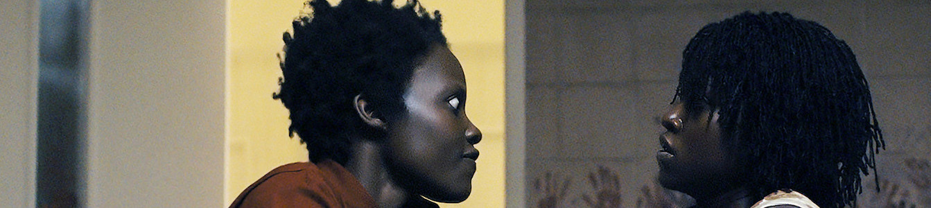 "Lupita Nyong'o in dual roles as Red and Adelaide Wilson in ""Us."""