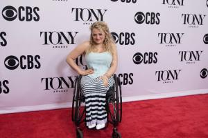 Ali Stroker on the red carpet at the Tony Awards