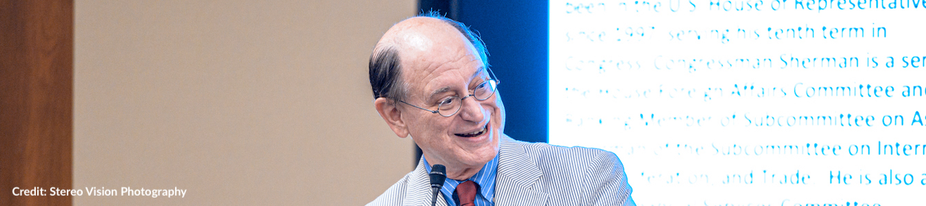 Congressman Brad Sherman speaking at RespectAbility's 2019 summit. Photo Credit: Stereo Vision Photography