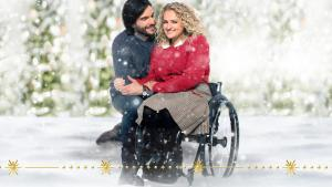 Poster for Christmas Ever After on Lifetime with Ali Stroker and Daniel di Tomasso