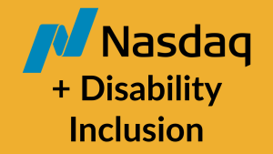 Nasdaq logo + Disability Inclusion