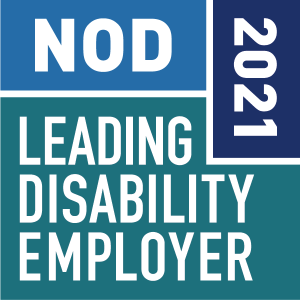 NOD 2021 Leading Disability Employer seal