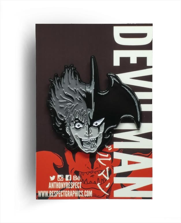 Devilman Akira Fudo Transformation Manga Edition 80s Anime Soft Enamel Pin By Respect