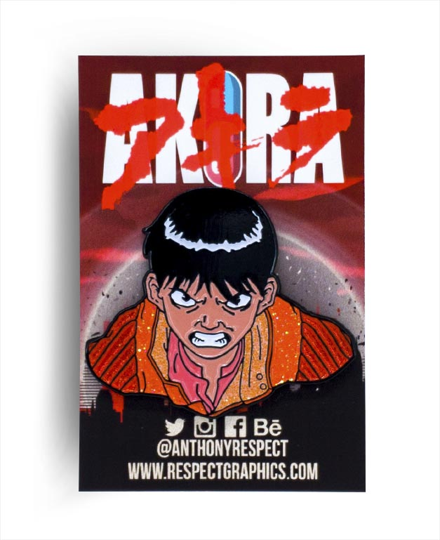 Akira Kaneda Glitter Edition 80s Anime Soft Enamel Pin by Respect