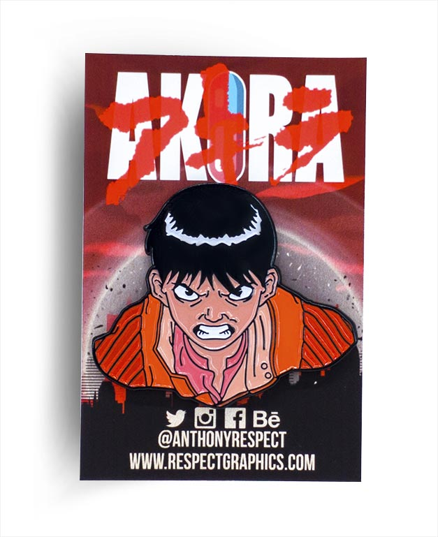 Akira Kaneda Last Stand Edition 80s Anime Soft Enamel Pin by Respect