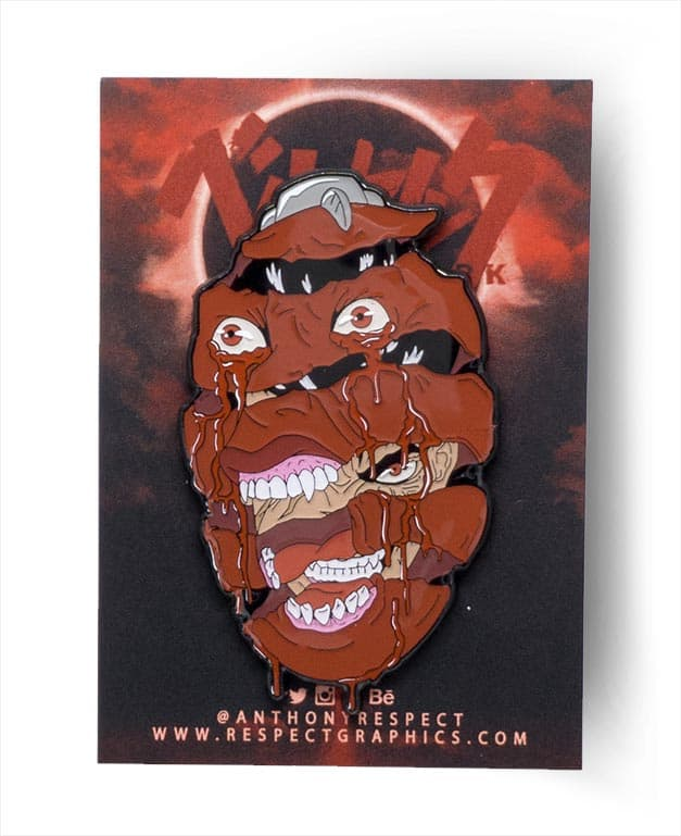 Berserk Behelit Guts Classic Edition Soft Enamel Pin With Epoxy ScreenPrint By Respect