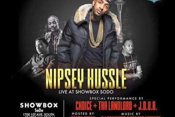 Nipsey hussle at the showbox sodo in seattle