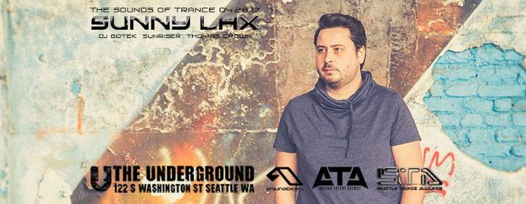 Sunny Lax is joined by locals DJ Gotek, Sunriser, and Thomas Crown