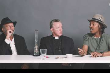 Watch A Priest, Rabbi, and Atheist Smoke Weed Together