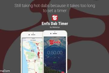 Download Errl's Dab Timer From Apple And Google Play App Stores
