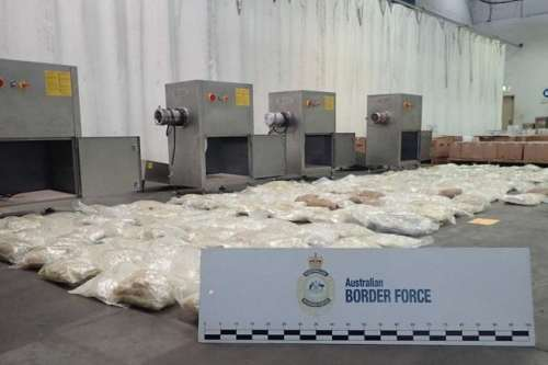 Officials Seize $57M Worth of MDMA Smuggled in Sausage Machines