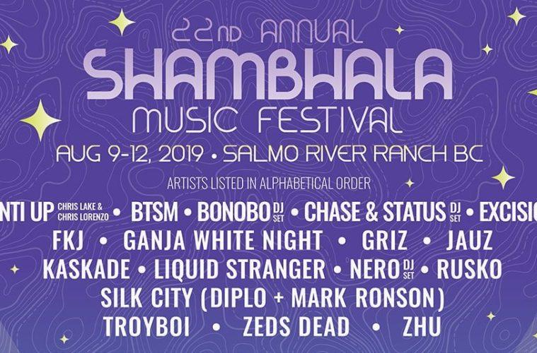 Troyboi Headlining Shambhala Music Festival's AMP Stage + Entire Lineup