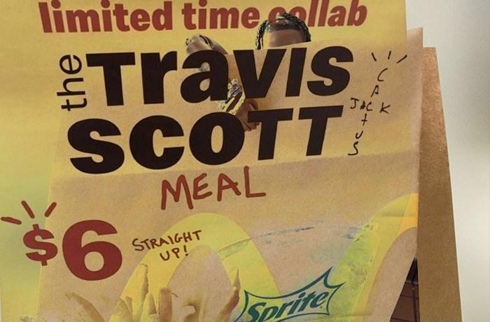 Travis Scott McDonald's Meal