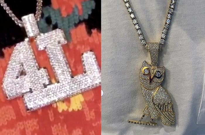 21 Savage and Drake Exchange Chains