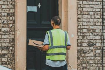 Delivery driver possibly delivering cannabis