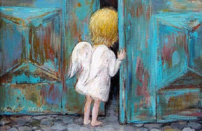 anjo na porta