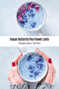 butterfly pea flower late two mugs