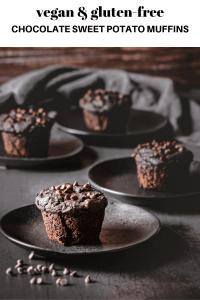 chocolate sweet potato muffins