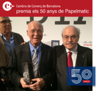 Consell Cambres premi 50 anys Papelmatic