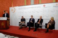 Conversación a cuatro: Queta Domènech, Daniel Ortiz, Xavier López, Ivan Álvaro y modera Josep Maria Canyelles