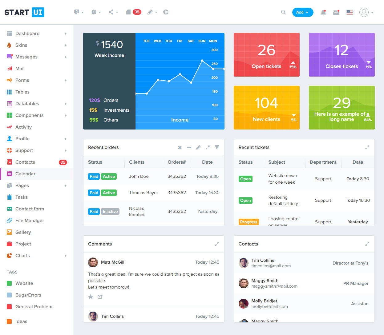 40 Best Html5 Bootstrap 4 Templates