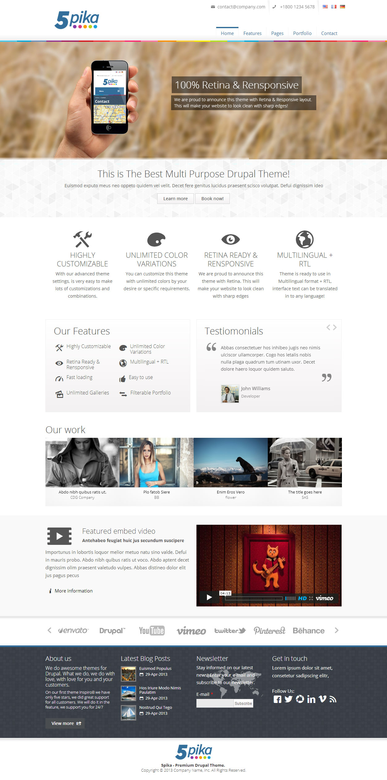 10+ Best Responsive Multipurpose Drupal Themes in 2013 - Responsive Miracle