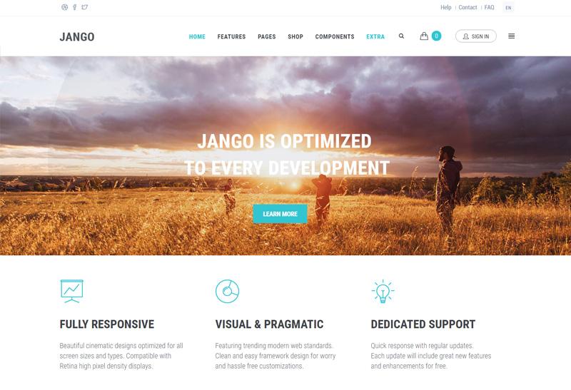 Jango - Premium Responsive Highly Flexible Component Drupal Theme