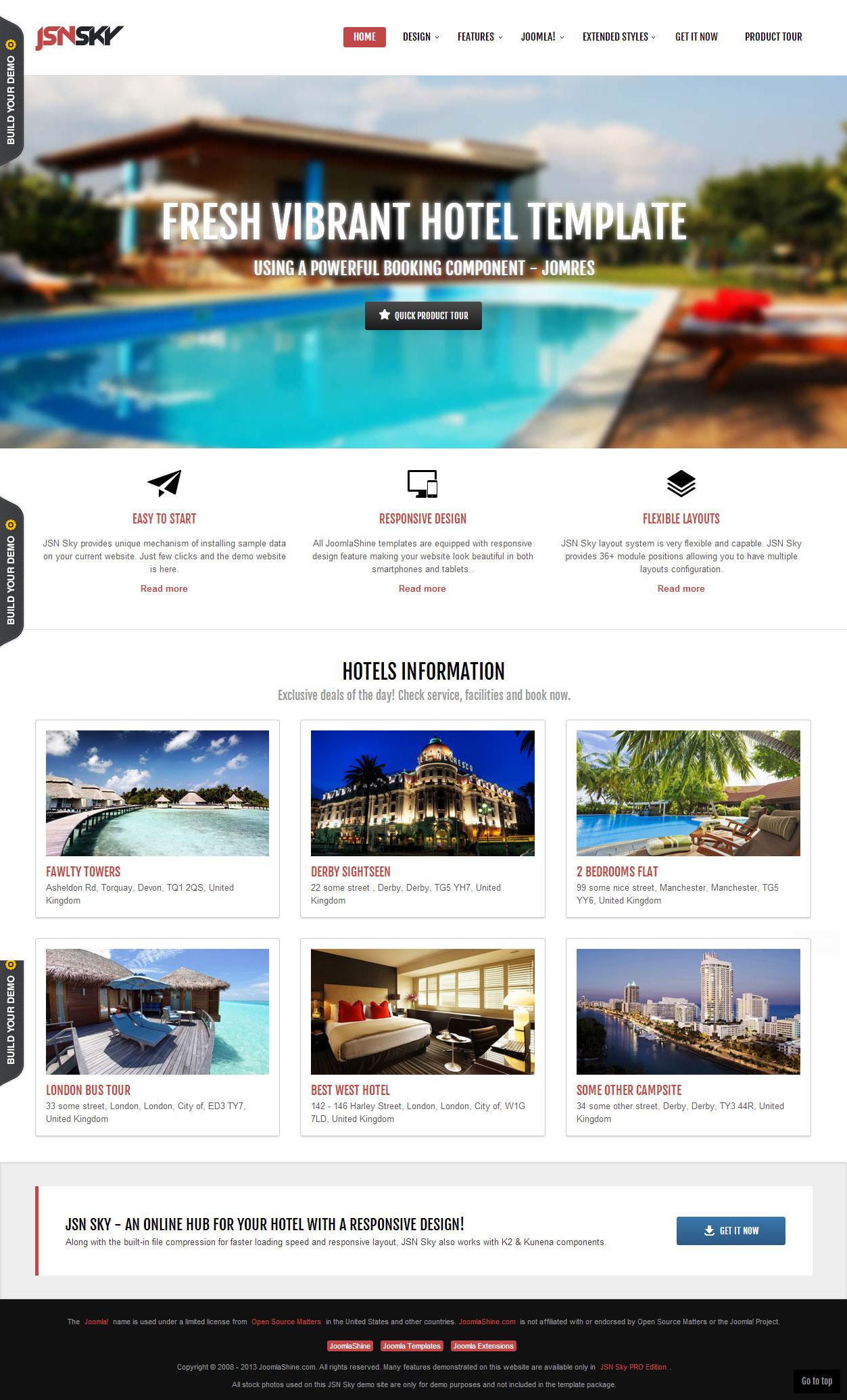 5 best responsive parallax scrolling joomla templates 2013 responsivemiracle. Black Bedroom Furniture Sets. Home Design Ideas
