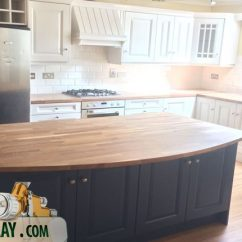 Two Tone Kitchen Island Planning Guide Toned Respray Stiffkeyblue