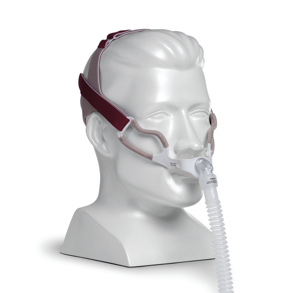 GoLife for Men CPAP Nasal Pillow Mask w/ Headgear