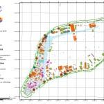 Carte de l'atoll de Ahe au 29 01 2019