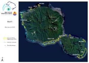 Carte générale des ZPR's de Tahiti - avril 2019