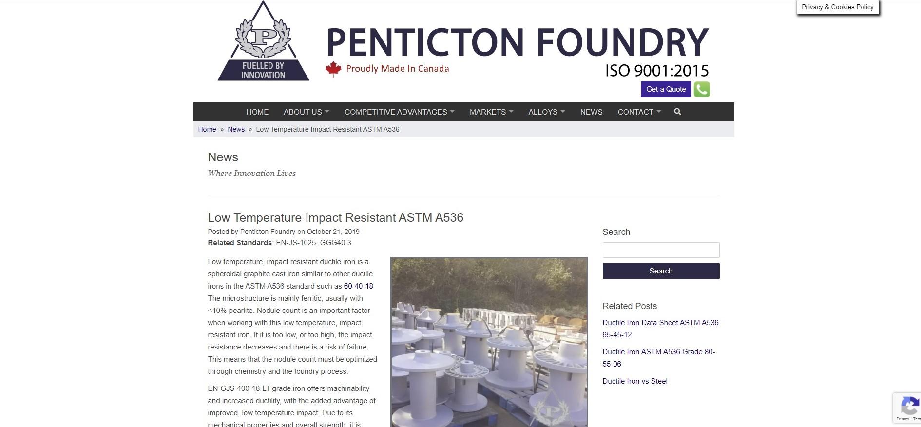 https://www.pentictonfoundry.com/news/low-temperature-impact-resistant-astm-a536/