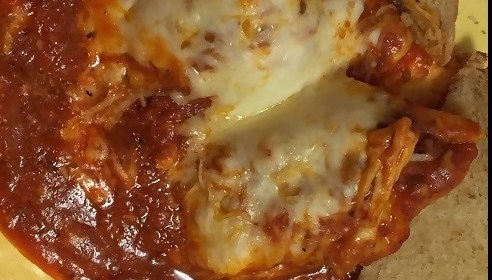 A Restaurant-Inspired Classic Italian American Fare at Home! Ricotta-Stuffed Manicotti with Marinara and Mozzarella