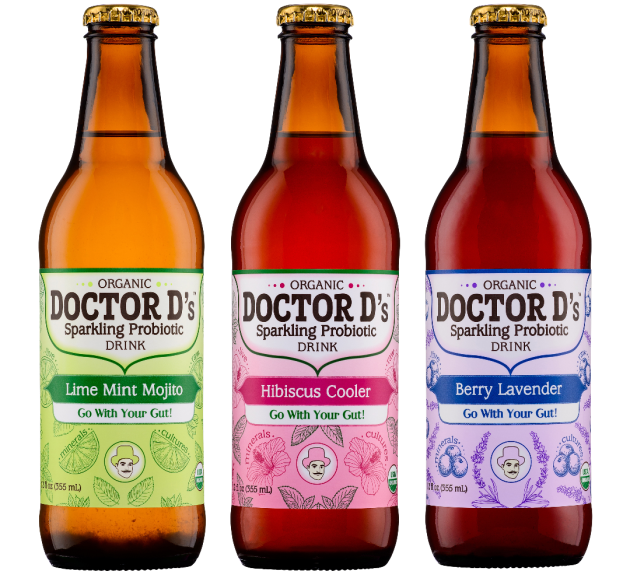 Doctor D's Introduces Three New Sparkling Probiotic Flavors: Berry Lavender, Hibiscus Cooler, Lime Mint Mojito