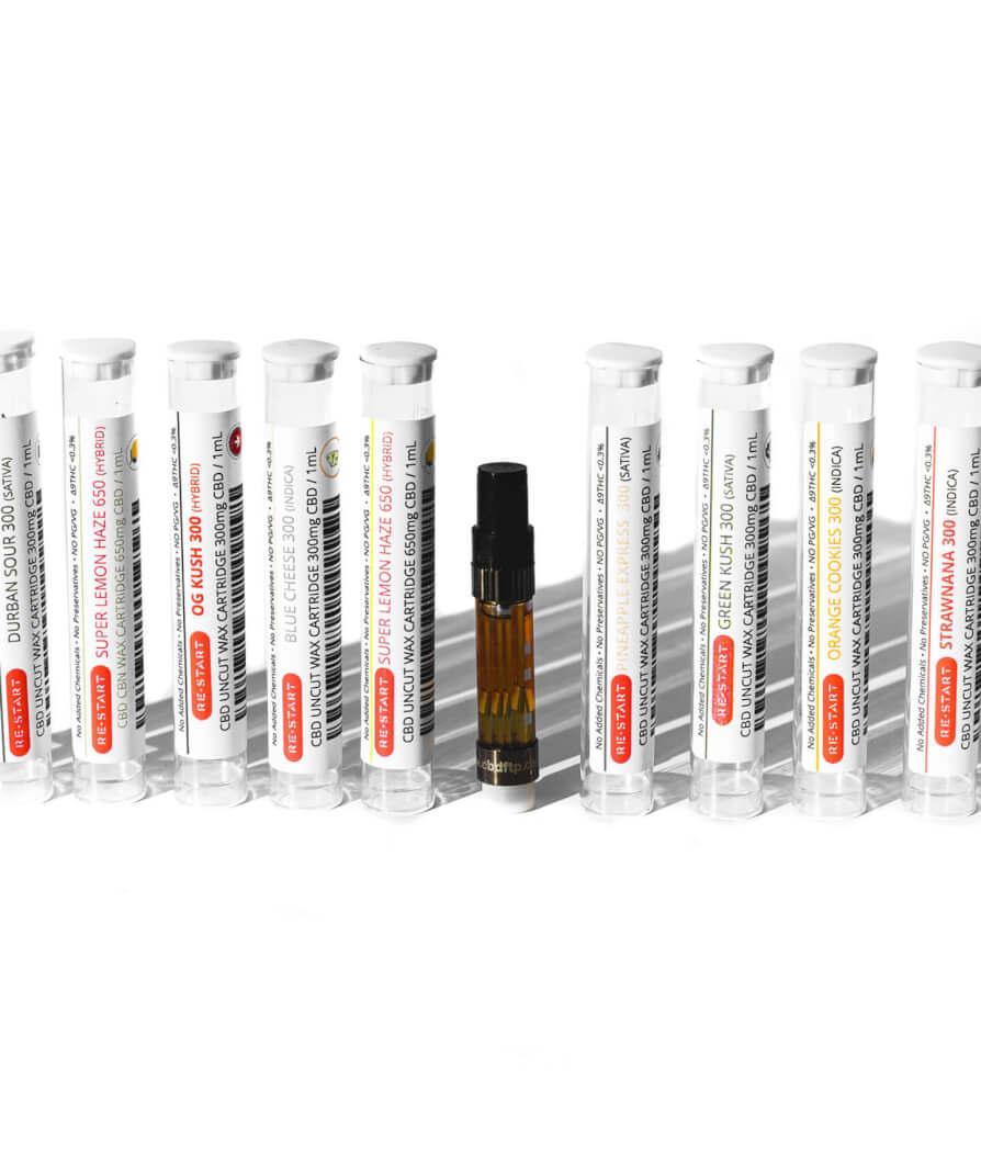 Restart cbd Uncut wax vape cartridges Austin TX