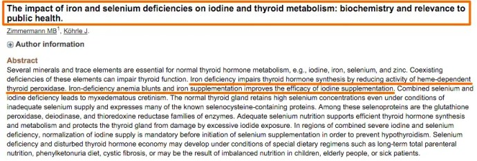 Iron deficiency and thyroid function