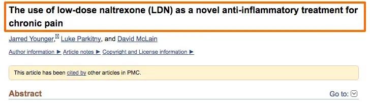 LDN anti inflammatory agent