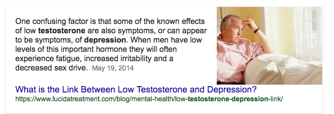 Testostrone and weight gain